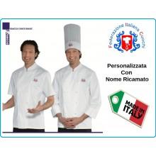 Giacca Chef Basic Federazione Italiana Cuochi FIC Prodotto Ufficiale Isacco Art.057197