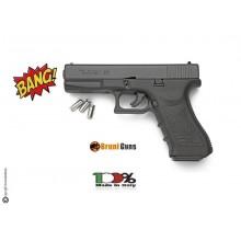 Pistola a Salve Bruni Gap Glock 17 Nero 8 mm a Salve Prodotto Italiana Starter Sport Colombi Art. RP032215