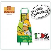 Grembiule con Pettorina Cuoco Chef Originale The Simson Homer Best Mom Over Art.TTS63/05V
