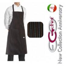 Grembiule Cucina Pettorina con Tascone cm 90x70 Cacao Art.6103065C
