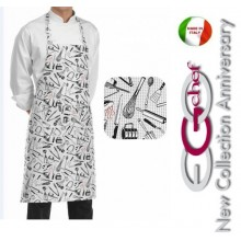 Grembiule Cucina Pettorina con Tascone cm 90x70 Chefwear  Art.6103101A