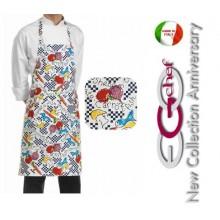 Grembiule Cucina Pettorina con Tascone cm 90x70 Fantasy Art.6103102A