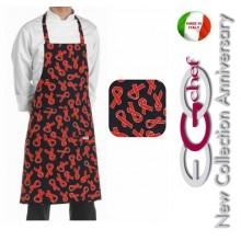 Grembiule Cucina Pettorina con Tascone cm 90x70 Friend Art.6103122C
