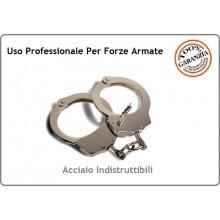 Manette Handcuffs Acciaio Modello Spagnolo Professionali Carabinieri Polizia GDF Penitenziaria Vigilanza Security  Art.OE61