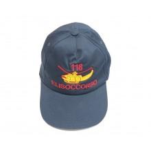 Cappello Cap Berretto Baseball 118 Soccorso Sanitario Elisoccorso Introvabile 118 Eliporto SAR  Art. NSD-118-1