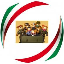 Orsetto Orso Teddy Bear Peluche Prodotto Italiano Fatto a Mano Tutti i Modelli  cm 25 x 53 cm Militari Civili Soccorso Magistratura Art.ORSO-TUTTI