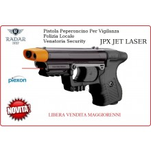 Pistola Peperoncino Autodifesa per Vigilanza Security Polizia Locale Piexon JPX JET LASER LIBERA VENDITA Radar 1957 Art.8200-0019