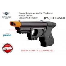 Pistola Peperoncino Autodifesa per Vigilanza Security Polizia Locale Piexon JPX JET LASER LIBERA VENDITA Radar 1957 Art. 8200-0019