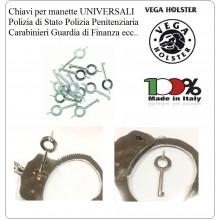 Chiavi Per Manette Universali Aprono Tutti i Modelli di Manette Polizia Carabinieri G.di F. ecc. Vega Holster Italia Art.OE62