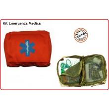 Kit Medico di Primo Soccorso Kit First Aid 3 Arancio Esercito Marina Aeronautica Emergenza Art.01421