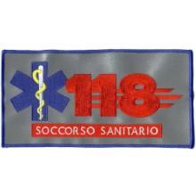 Ricamo 118 rifrangente Ricamato su tessuto 3M® Rifrangente cm 21.50 x 11 Art.Eumar CA 1173