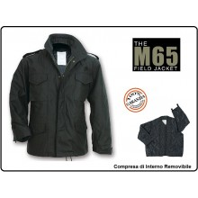 Giacca Giubbino Giubbotto Militare Field Jakets M65 Nero Vietnam Vinatge Caccia Soft Air  Art.03072A