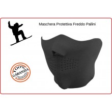 Maschera Neoprene Nera Protettiva Freddo Sci Snowboard Soft Air Art.11666002