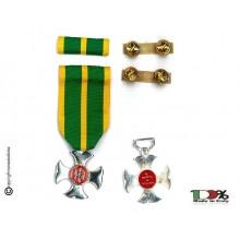 Set Medaglie Croce Anzianità di Servizio Guardia di Finanza Argento G. di F. XVI anni  Art. FAV-SET17