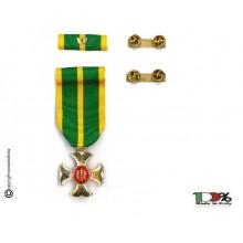 Set Medaglie Croce Anzianità di Servizio Guardia di Finanza G. di F.  Oro XXV anni  Art.FAV-SET18