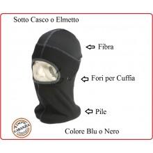 Passamontagna Sotto Ellmetto Mefisto Balaclava  Nero o Blu In Pile + Microfibra Carabinieri Polizia Art.214284