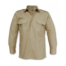 Camicia Kaky Militare Esercito Italiano con Spalline Manica Lunga Italia Esercito Art.MIL-KAKY