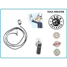 Fischietto Metallo Professionale Polizia Locale Vigili Vega Holster Italia Art.OE37-OE38