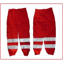 Pantalone Mistocotone Trattamento Teflon HT Soccorritore 118 Rosso Fluo' Art.SS-PANT-118