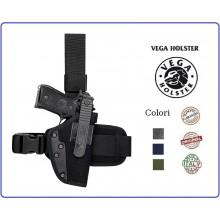 Fondina Cosciale Tactical in Cordura Polizia Carabinieri Esercito Soft Air Vega Holster Italia Art.PA2
