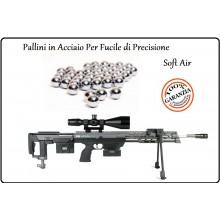 Pallini Acciaio Precision Confezione 500 Pallini Diametro 6mm Soft Air Cecchino Gr.0,90 Art.CF501C