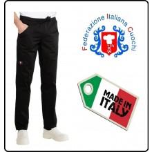 Pantalone Pants Coulisse Cuoco Chef Professionale Isacco Italia F.I.C. Federazione Italiane Cuochi  Art.044697