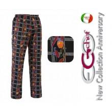 Pantalone Pants Hose Coulisse Cuoco Chef Professionale Ego Chef Italia Pepper Art.3502129A