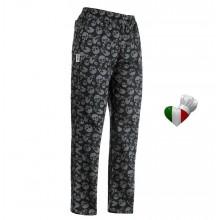 Pantalone Pantaloni Pants Hose Coulisse Cuoco Chef Professionale Ego Chef Italia Skulls Teschi Art. 3502120A