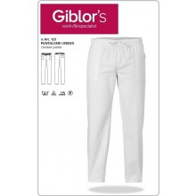 Pantalone Pantaloni Pantalaccio  Professionale Sanitario Medico Infermieristico Cucina Cuoco Chef Pasticcere Giblor's Bianco Art.123