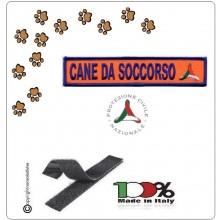 Patch Toppa Con Velcro  Cane da Soccorso Protezione Civile Volontari e Nazionale 11x2.50 Art.EU2005
