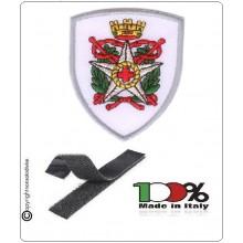 Toppa Patch Ricamo con Velcro Croce Rossa Corpo Militare a Scudo Nuovo Art.EU2127