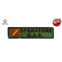 Patch Gommata Operatore D.A.E. con Velcro Art.NSD.dae
