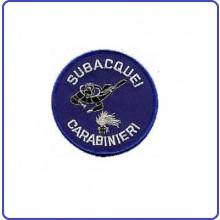Patch Ricamata Carabinieri Subacquei CC Art.EU 080