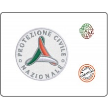 Patch Toppa Protezione Civile Mini Ricamato cm 4  Art.EU1170