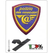 Patch Toppa Scudetto Polizia delle Comunicazioni  Ricamata con Velcro Art.EU2004