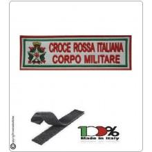 Patch Toppa Ricamata Croce Rossa Italiana Corpo Militare con Velcro Bianca Art.TU-MIL