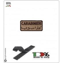 Patch per Tuta Operativa Missione Estero Carabinieri ITALIANO ARABO kaky Sabbia  Art.EU 1341K