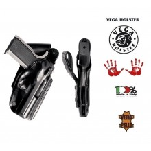 Fondina in Cuoio da Cintura Vega Holster Italia Polizia Carabinieri Vigilanza GPG IPS Art. PB1