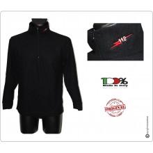 Maglione Maglioncino Pile Nero con Ricamo sul Collo  Carabinieri 112 Art.CC-N112