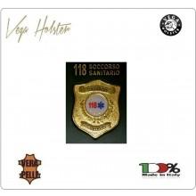 Placca con Supporto Cuoio Da Inserire Al Portafoglio Soccorso Sanitario 118 1WG Vega Holster Italia  Art. 1WG-116