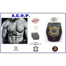 Portaplacca Doppio Uso Collo - Cintura A.E.O.P. Vega Holster Italia Art.1WB124