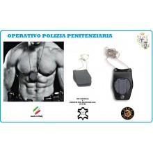Portaplacca Porta Placca Porta Distintivo Doppio Uso Collo e Cintura Polizia Penitenziaria Operativo Vega Holster Italia Art.1WB52