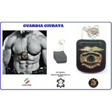 Portaplacca Doppio Uso Collo - Cintura Guardia Giurata  Vega Holster Italia Art.1WB73
