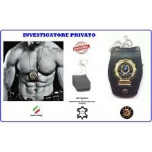 Portaplacca Doppio Uso Collo - Cintura Investigatore Privato Vega Holster  Art.1WB76