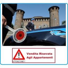 Adesivo Per Paletta Rosso Polizia Penitenziaria modello 2 VENDITA RISERVATA Art.R0100