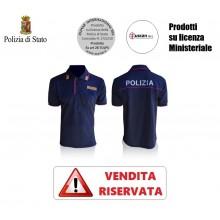 Polo Polizia di Stato Manica Corta Stradale Volante Squadra Mobile Modello Nuovo VENDITA RISERVATA OFFERTA  Art. NSD-POLO-PS