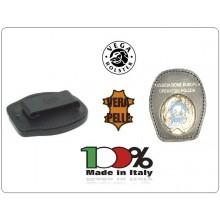 Placca Da Cintura in Cuoio con Stemma Metallo A.E.O.P. Associazione Europea Operatori di Polizia Vega Holster Italia Art. 1WA122