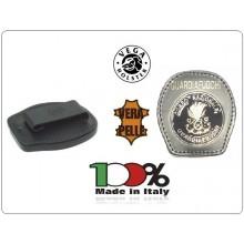 Placca Da Cintura in Cuoio con Placca Metallo Corpo Nazionale Guardiafuochi Guardia Fuochi Vega Holster Italia Art.1WA121