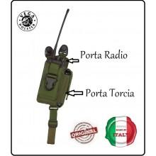 Porta Caricatore Torcia più Porta Radio Vega Holster Italia Art.2SAM20