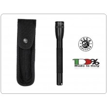 Portapila Porta Torcia Porta Pila Professionale per Cinturone Cordura Nera Vega Holster Italia Art. 2P85